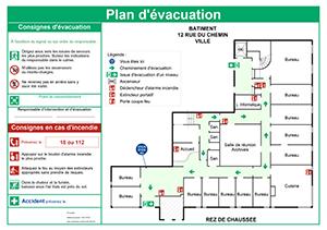 """Résultat de recherche d'images pour """"plan d'évacuation immeuble"""""""